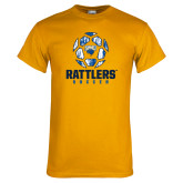 Gold T Shirt-Rattlers Soccer Geometric Ball