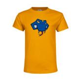 Youth Gold T Shirt-Rattler Head