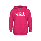 Youth Raspberry Fleece Hoodie-Arched StMU