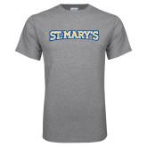 Grey T Shirt-St. Marys Word Mark