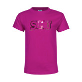 Youth Cyber Pink T Shirt-Arched StMU Foil