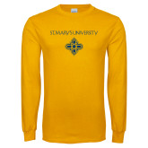 Gold Long Sleeve T Shirt-St. Marys University