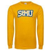 Gold Long Sleeve T Shirt-Arched StMU