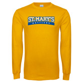 Gold Long Sleeve T Shirt-Arched St. Marys Rattlers