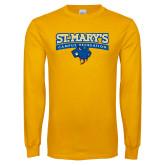 Gold Long Sleeve T Shirt-Campus Recreation