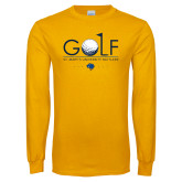 Gold Long Sleeve T Shirt-St. Marys Gold Stacked