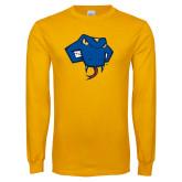 Gold Long Sleeve T Shirt-Rattler Head