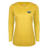 Ladies Syntrel Performance Gold Longsleeve Shirt-Primary Logo