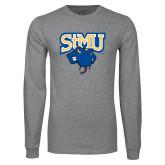 Grey Long Sleeve T Shirt-StMU with Rattler