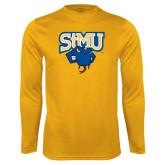 Performance Gold Longsleeve Shirt-StMU with Rattler