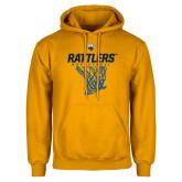 Gold Fleece Hoodie-Rattlers Basketball Hanging Net