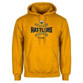 Gold Fleece Hoodie-Rattlers Softball Seams