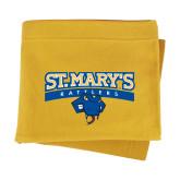 Gold Sweatshirt Blanket-Primary Logo
