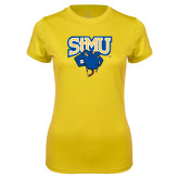 Ladies Syntrel Performance Gold Tee-StMU with Rattler