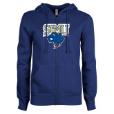 ENZA Ladies Royal Fleece Full Zip Hoodie-StMU with Rattler