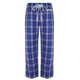 Royal/White Flannel Pajama Pant-Primary Logo