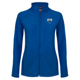 Ladies Fleece Full Zip Royal Jacket-StMU with Rattler