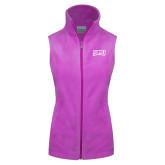 Columbia Ladies Full Zip Lilac Fleece Vest-Arched StMU