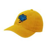 Gold Flexfit Mid Profile Hat-Rattler Head