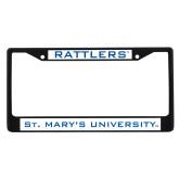 Metal License Plate Frame in Black-Rattlers
