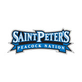 Small Decal-Saint Peters Peacock Nation Banner, 6in wide