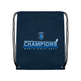 Navy Drawstring Backpack-MAC Mens Golf Champions 2017