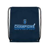 Navy Drawstring Backpack-MAC Mens Golf Champions 2017