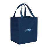 Non Woven Navy Grocery Tote-Saint Peters Peacock Nation Banner