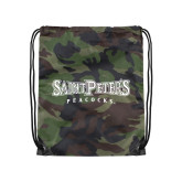 Camo Drawstring Backpack-Saint Peters University