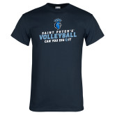 Navy T Shirt-Volleyball Can You Dig It