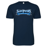 Next Level SoftStyle Navy T Shirt-Saint Peters Peacock Nation Banner