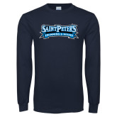 Navy Long Sleeve T Shirt-Swimming & Diving