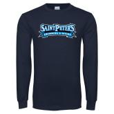 Navy Long Sleeve T Shirt-Swimming & Diving