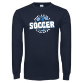Navy Long Sleeve T Shirt-Soccer Circle