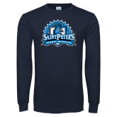 Navy Long Sleeve T Shirt-Sports Medicine