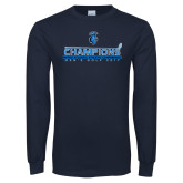 Navy Long Sleeve T Shirt-MAC Mens Golf Champions 2017