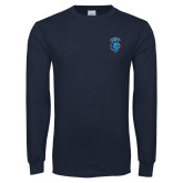 Navy Long Sleeve T Shirt-Peacock