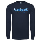 Navy Long Sleeve T Shirt-Saint Peters University