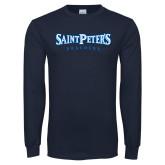 Navy Long Sleeve T Shirt-Saint Peters University