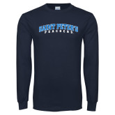 Navy Long Sleeve T Shirt-Arched Saint Peters University