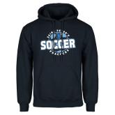 Navy Fleece Hoodie-Soccer Circle