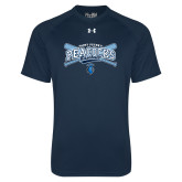 Under Armour Navy Tech Tee-Peacocks Baseball Crossed Bats