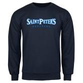 Navy Fleece Crew-Saint Peters University
