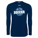 Under Armour Navy Long Sleeve Tech Tee-Soccer Circle