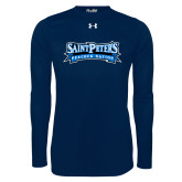 Under Armour Navy Long Sleeve Tech Tee-Saint Peters Peacock Nation Banner
