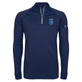 Under Armour Navy Tech 1/4 Zip Performance Shirt-Peacock