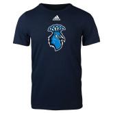 Adidas Navy Logo T Shirt-Peacock