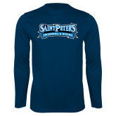 Performance Navy Longsleeve Shirt-Swimming & Diving