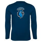 Syntrel Performance Navy Longsleeve Shirt-Peacock