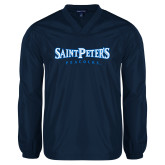V Neck Navy Raglan Windshirt-Saint Peters University